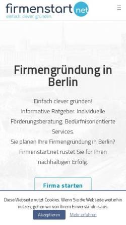 Vorschau der mobilen Webseite firmenstart.net, firmenstart.net