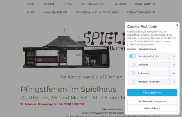 Vorschau von www.spielhaus-stuttgart.de, Spielhaus Unterer Schlossgarten