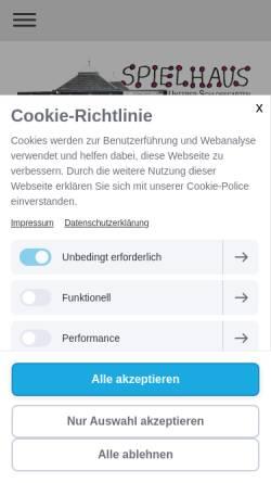 Vorschau der mobilen Webseite www.spielhaus-stuttgart.de, Spielhaus Unterer Schlossgarten