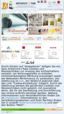 Vorschau der mobilen Webseite www.artservice-tube.de, Artservice Gerhard auf der Heide GmbH