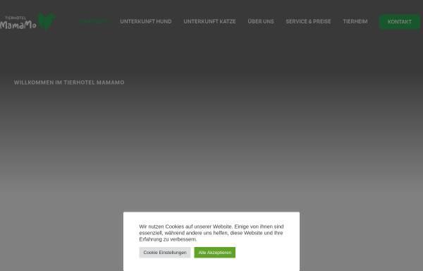 Vorschau von www.tierhotelmamamo.de, Tierhotel Mama Mo