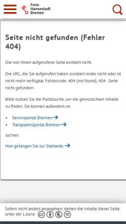 Vorschau der mobilen Webseite denkmalpflege.bremen.de, Seute Deern