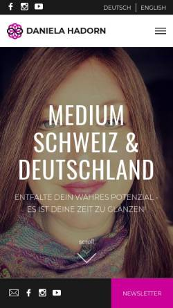 Vorschau der mobilen Webseite danielahadorn.com, Medium Schweiz Daniela Hadorn