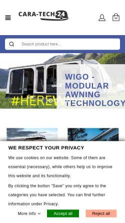 Vorschau der mobilen Webseite www.cara-tech-24.eu, Cara-Tech-24 - DorMic-systems