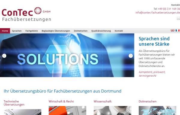 Vorschau von www.contec-fachuebersetzungen.de, ConTec Fachübersetzungen GmbH