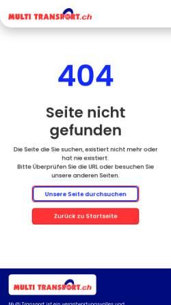 Vorschau der mobilen Webseite www.multitransport.ch, Multi Transport Seven