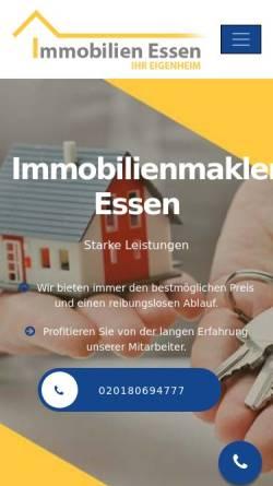 Vorschau der mobilen Webseite immobilienmakler-essen.net, Immobilienmakler Essen Schneider