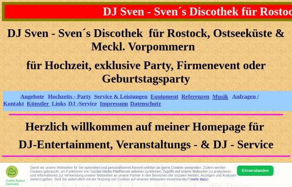 Vorschau von www.svendisco.de, DJ Sven - Sven´s Discothek