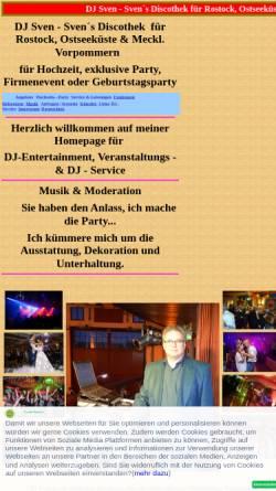 Vorschau der mobilen Webseite www.svendisco.de, DJ Sven - Sven´s Discothek