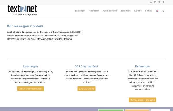 Vorschau von www.text2net.de, text2net GmbH
