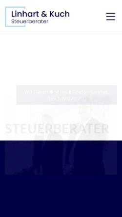 Vorschau der mobilen Webseite www.steuerkanzlei-muc.de, Linhart & Kuch Steuerberater PartG mbB