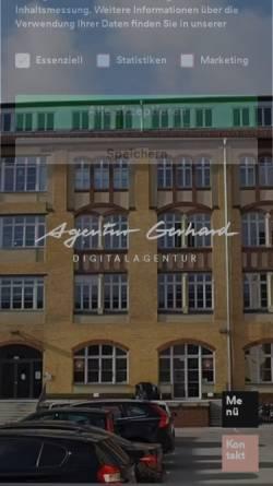 Vorschau der mobilen Webseite www.agentur-gerhard.de, Agentur Gerhard GmbH