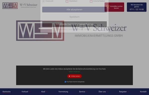 Vorschau von www.schweizer-immobilien.de, W+V Schweizer Immobilienvermittlung