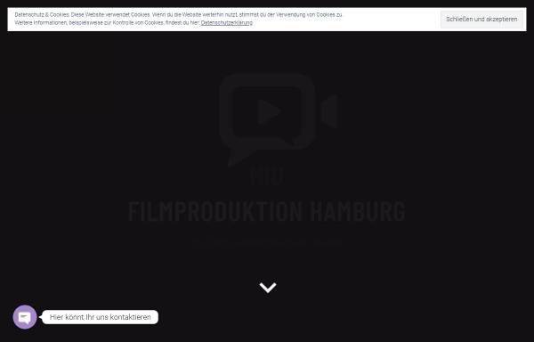 Vorschau von www.miu-filmproduktion.de, Miu Filmproduktion Hamburg