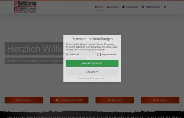 Vorschau von www.gsr-nuernberg.info, Geschwister-Scholl-Realschule Nürnberg