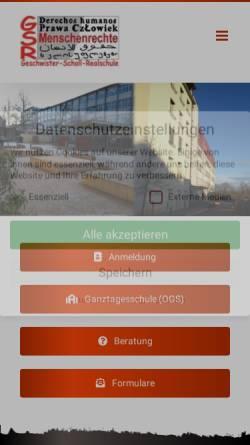Vorschau der mobilen Webseite www.gsr-nuernberg.info, Geschwister-Scholl-Realschule Nürnberg