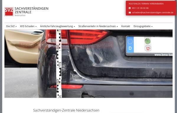 Vorschau von sachverstaendigen-zentrale.de, SVZ – Niedersachsen