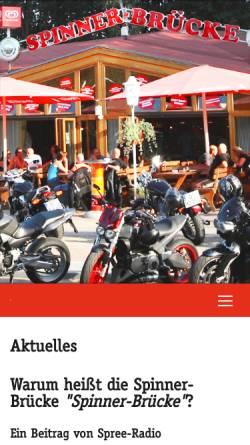 Vorschau der mobilen Webseite www.spinner-bruecke.de, Spinnerbrücke