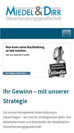 Vorschau der mobilen Webseite www.miedel-dirr.de, Miedel & Dirr GmbH