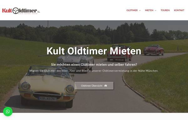 Vorschau von kult-oldtimer-mieten.de, KultOldtimer GmbH