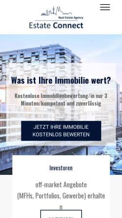 Vorschau der mobilen Webseite estateconnect.de, Estate Connect