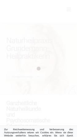 Vorschau der mobilen Webseite heilpraktiker-mainz.com, Naturheilpraxis Christine Grundemann