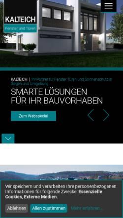 Vorschau der mobilen Webseite www.kalteich-fenster.de, Kalteich Fenster