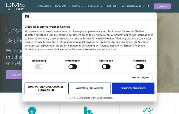 Vorschau von www.dmsfactory.com, DMSFACTORY GmbH