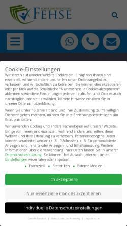 Vorschau der mobilen Webseite www.schuldnerberatung-fehse.de, Schuldnerberatung Fehse