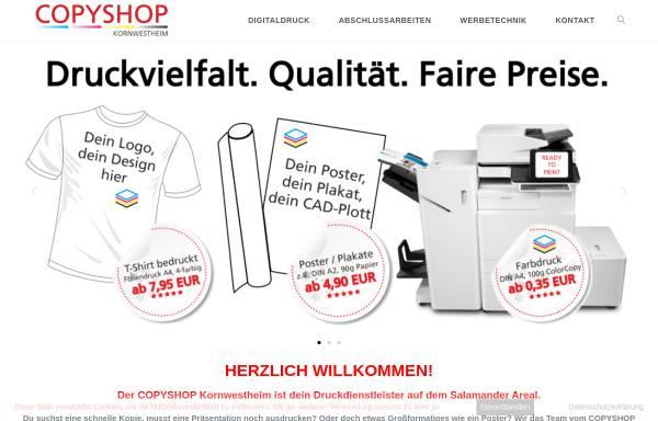 Vorschau von www.copyshop-kornwestheim.de, Copyshop, Digitaldruck, Werbetechnik
