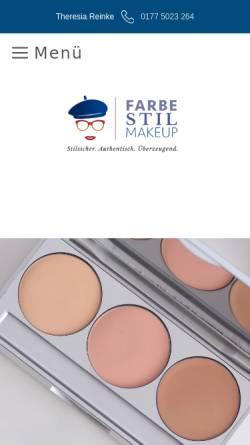 Vorschau der mobilen Webseite www.farbe-stil-makeup.com, farbe-stil-makeup