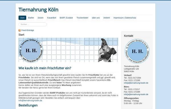 Vorschau von www.tiernahrung-koeln.de, H. Henseler OHG