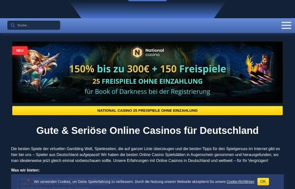 Vorschau von onlinecasinopolis.de, Onlinecasinopolis