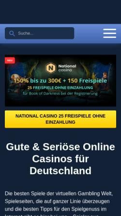 Vorschau der mobilen Webseite onlinecasinopolis.de, Onlinecasinopolis
