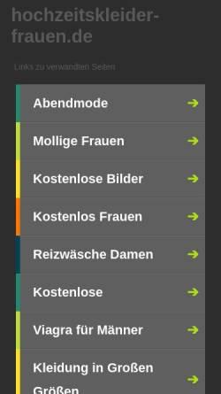 Vorschau der mobilen Webseite hochzeitskleider-frauen.de, ROOTS24 – HOSTING & SERVER