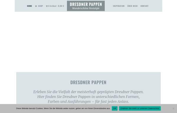 Vorschau von www.dresdner-pappen.de, Dresdner Pappen