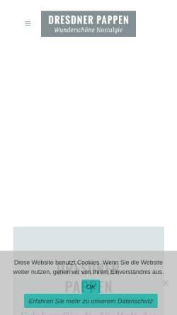 Vorschau der mobilen Webseite www.dresdner-pappen.de, Dresdner Pappen