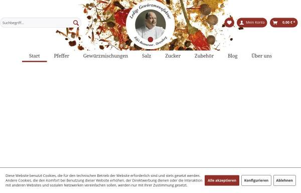 Vorschau von www.ledigs-gewuerzmanufaktur.de, Ledigs Gewürzmanufaktur