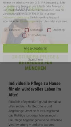 Vorschau der mobilen Webseite curasenio.de, CURASENIO