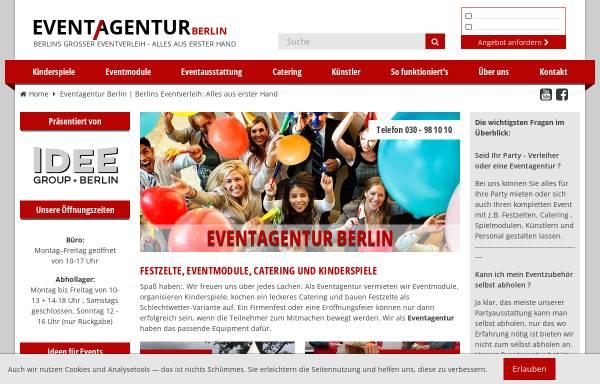 Vorschau von www.eventagentur.eu, Eventagentur Berlin