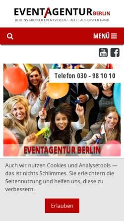 Vorschau der mobilen Webseite www.eventagentur.eu, Eventagentur Berlin