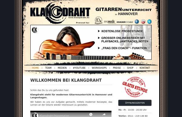 Vorschau von www.klangdraht.de, Klangdraht