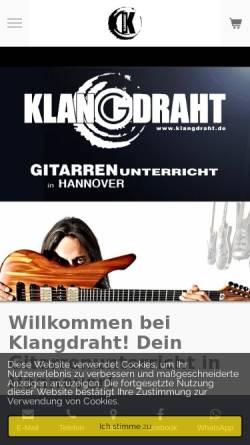 Vorschau der mobilen Webseite www.klangdraht.de, Klangdraht