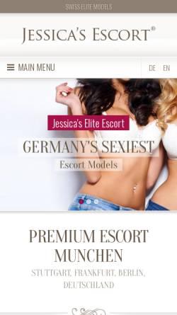 Vorschau der mobilen Webseite www.jessicas.de, Jessica's Escort München