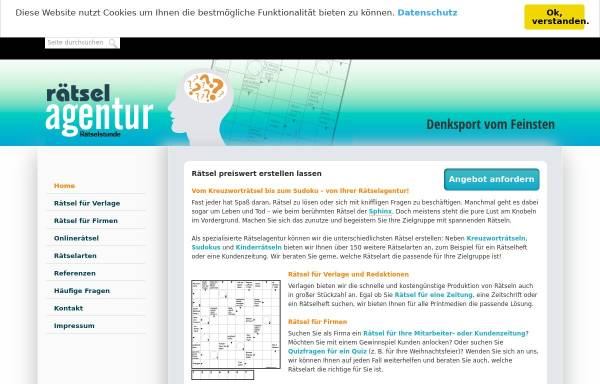 Vorschau von www.raetselstunde.com, Rätselagentur Rätselstunde