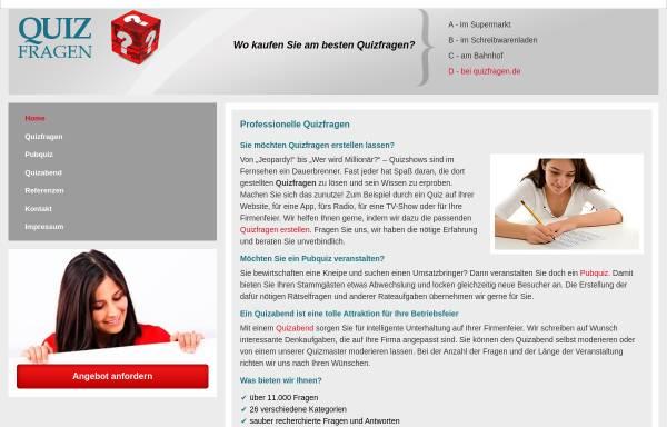 Vorschau von www.quizfragen.de, Rätselagentur Rätselstunde