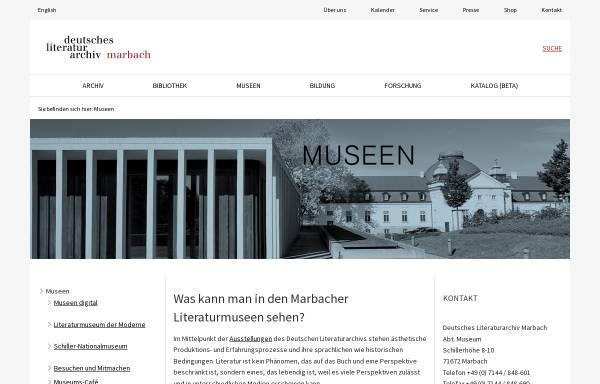 Vorschau von www.dla-marbach.de, Marbacher Literaturmuseen