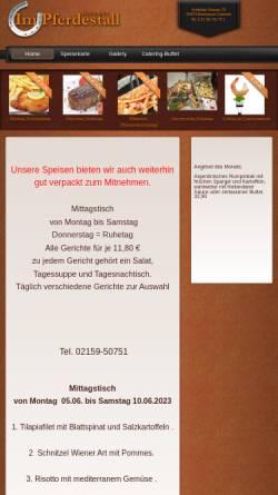 Vorschau der mobilen Webseite impferdestall.de, Restaurant im Pferdestall