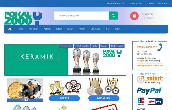 Vorschau von pokal-kaufen.de, Pokal 2000 Vertriebsgesellschaft für Sport- und Ehrenpreise mbH