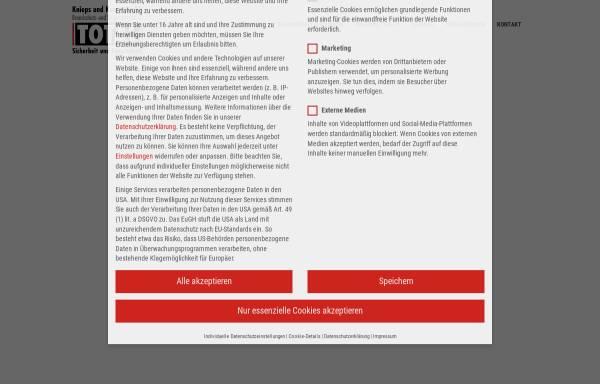 Vorschau von www.brandschutz-total.de, Knieps & Komm GmbH